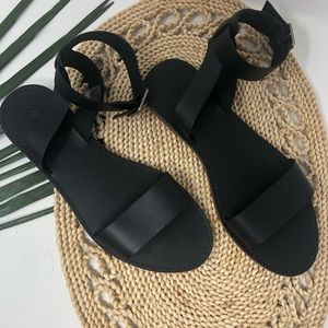 Madewell The Boardwalk Leather Sandals Size 9
